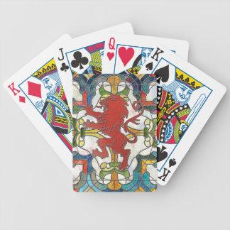 Lejon vapensköld för målat glass spelkort