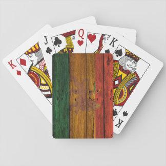 lejon vapensköld för reggae på wood struktur spelkort