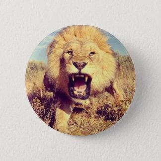 Lejon vild standard knapp rund 5.7 cm