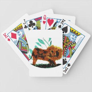 Lejon vilddjurillustration spelkort