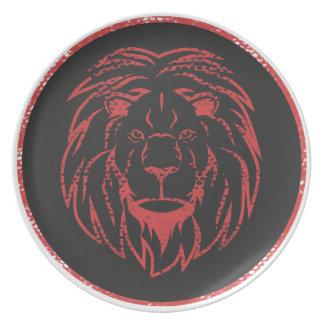 Lejona Black&Red färger Tallrik