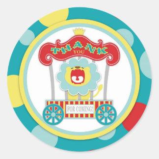 Lejona blått för cirkus mycket runt klistermärke