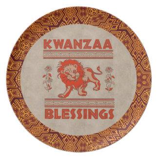 Lejona Kwanzaa Tallrik