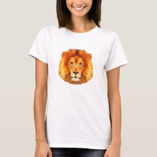 Lejona låga poly designkvinna grundläggande tshirts