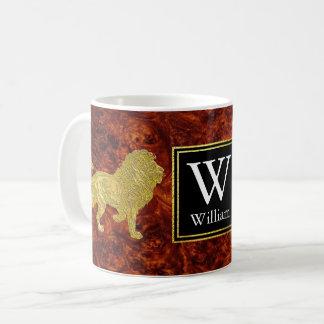 LejonBurlwood Monogram Kaffemugg