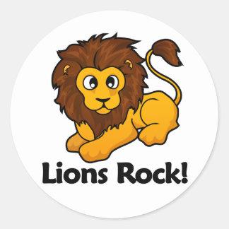 Lejonsten! Runda Klistermärken