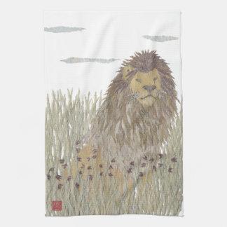 Lejont afrika, djur, djurliv kökshandduk