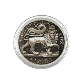 Lejont av den Judah Rasta silverringen Ringar Med Foto