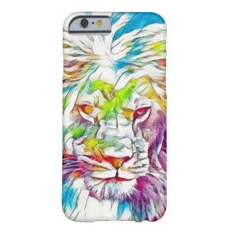 Lejont av gudvattenfärg rita fodral för barely there iPhone 6 skal
