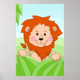 Lejont från afrika poster