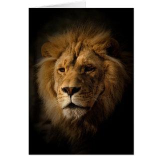 lejont i mörker hälsningskort