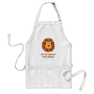 """Lejont """"kung beställnings- förkläde av för djungel"""