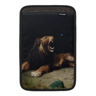 Lejont låsa fast på en fjäril MacBook air sleeve