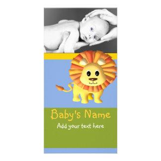 Lejont meddelande för baby fotokort