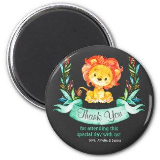 Lejont tack för svart tavlavattenfärg magnet