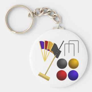 Lek av Croquet Keychain Rund Nyckelring