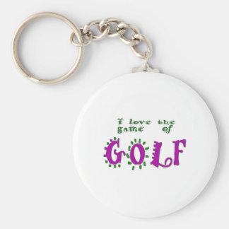 Lek av Golf Rund Nyckelring