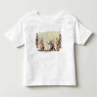 Lek av pelotaen i den öppna luften t-shirts