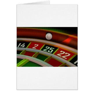 Lek för roulettRulet kasino Hälsningskort