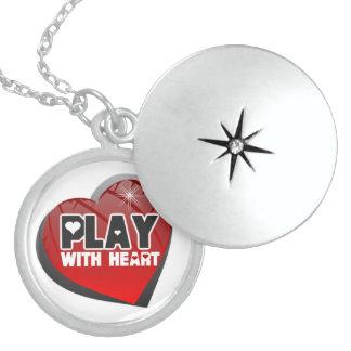 Lek med halsbandet för hjärtasportLocket Sterling Silver Halsband