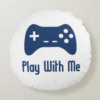 Lek med mig videospel rund kudde