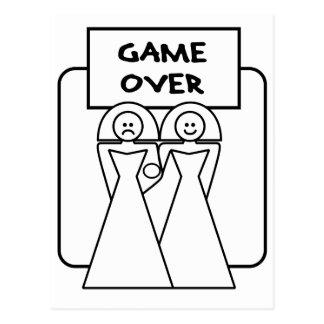 """""""Lek över"""" giftermål (homosexuell person) Vykort"""