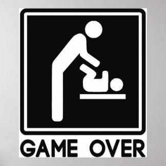 Lek över nyfödd bebis för förälderpappa posters