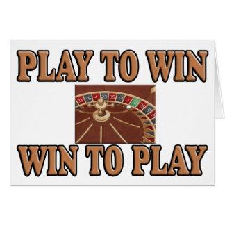 Lek som segrar - segern som leker - rouletten hälsningskort