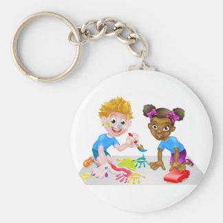 Leka för pojke- och flickaungar rund nyckelring