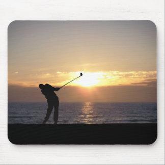 Leka Golf på solnedgången Musmatta