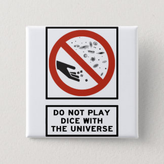 Leka inte tärning med universumhuvudvägen undertec standard kanpp fyrkantig 5.1 cm