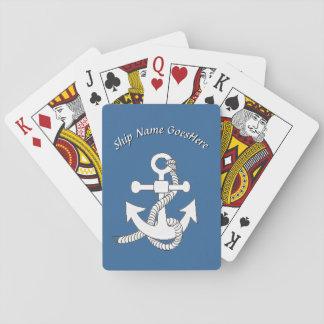 Leka kort - frakten ankrar med namn kortlek
