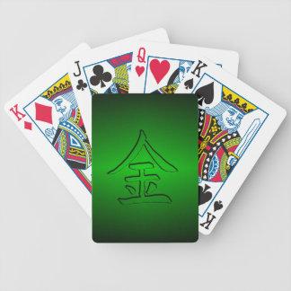 Leka kort: Kinesisk Kanji för guld/pengar: 金 Spelkort