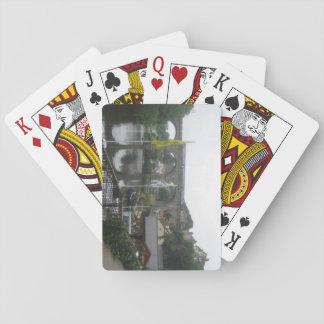 Leka kort med flod- och Viaductbilden Casinokort