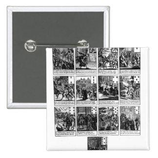 Leka kort som visar impeachmenten standard kanpp fyrkantig 5.1 cm