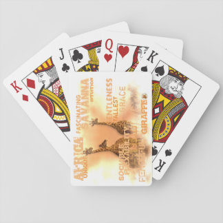 Leka kort, unika giraff casinokort