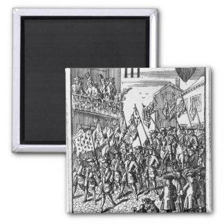 Leka kortet som visar ensignsna magnet