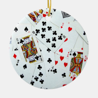 Leka kortprydnaden rund julgransprydnad i keramik
