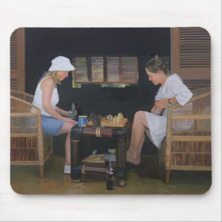 Leka schack på goldeneyen musmatta