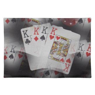 Leka varvade mönster för kortkvadrat det kungar, bordstablett
