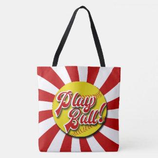 Lekboll! Röd & vitsoftballtoto (rebeller) Tygkasse