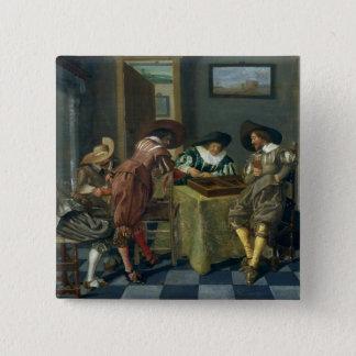Leken av Backgammon Standard Kanpp Fyrkantig 5.1 Cm