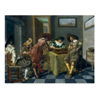 Leken av Backgammon Vykort