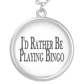 leker ganska Bingo Silverpläterat Halsband