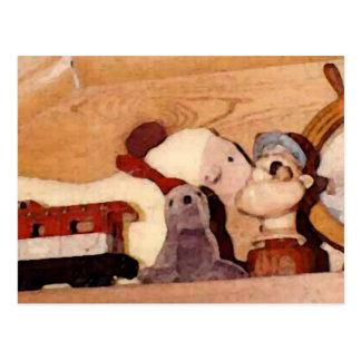 Leksaker från förflutnan vykort