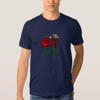Leksaklyftande jultomten t-shirt
