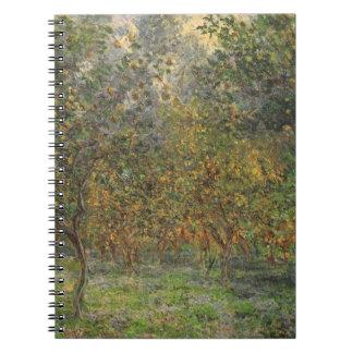 Lemon Grove i Bordighera vid Claude Monet Anteckningsbok Med Spiral