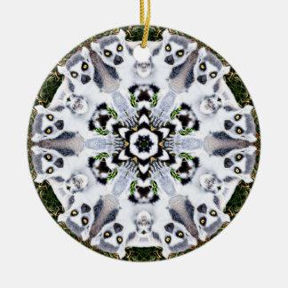 LemurSnowflakeprydnad Julgransprydnad Keramik