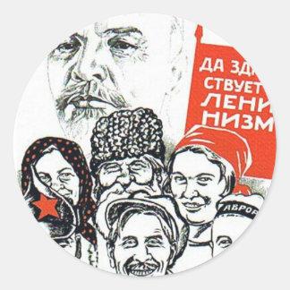 lenin far av kommunism runt klistermärke