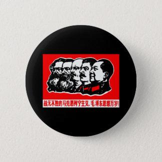 Lenin Marx Mao Zedong Standard Knapp Rund 5.7 Cm